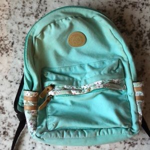 Floral Mint Green Backpack